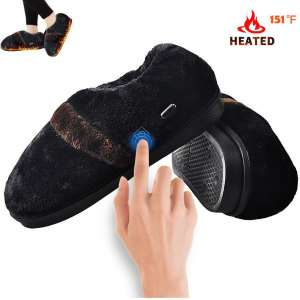 Heated Slippers,Amiable Heat Foot Warmer for Men Women, USB Electric Heating Slippers Shoes for Size 5-10.5 of Men's Feet and Size 4.5-12 of Women's Feet