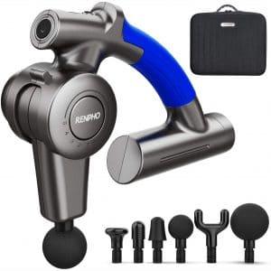 RENPHO R4 Massager Gun with Adjustable Arm, Percussion Massager Gun Handheld Deep Tissue, Muscle Massager Gun