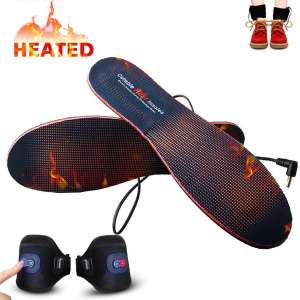Heated Insoles with Rechargeable Battery Powered,Bial Adjustable Temperature Electric Pads Foot Warmers for Men Women Warm Feet