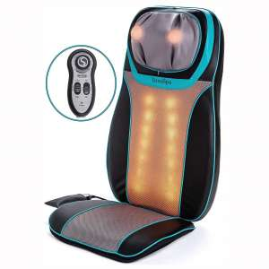 Shiatsu Neck and Back Massager Chair with Heat - Massage Seat Cushion with Rolling, Kneading & Vibration - Full Back & Shoulder Deep Tissue to Relieve Muscle Pain - for Home & Office