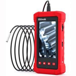 Oiiwak Industrial Endoscope, 3.9mm Borescope Inspection Camera with Light 1080P HD Video 4.3 Inch Digital Screen,Waterproof Semi-Rigid Snake Camera for Automotive Engine