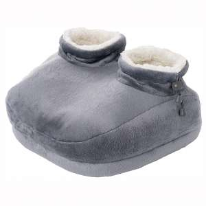Pure Enrichment PureRelief Deluxe Foot Warmer - Super-Soft Sherpa-Lined, Fast-Heating Electric Boots with 4 Temperature Settings