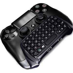 JahyShow® Bluetooth Mini Wireless Chatpad Message Game Controller Keyboard Chatpad for Sony Playstation PS4 Controller