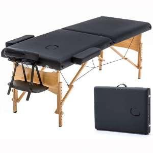 "Massage Table Portable Massage Bed Spa Bed 73"" Long 28"" Wide Hight Adjustable Massage Table 2 Folding Massage Bed Spa Bed Facial Cradle Salon Bed"