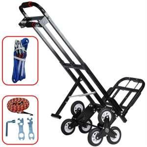 Mecete Enhanced Stair Climbing Cart Portable Climbing Cart 460 lb Largest Capacity All Terrain Stair Climbing Hand Truck Heavy Duty with 6 Wheels