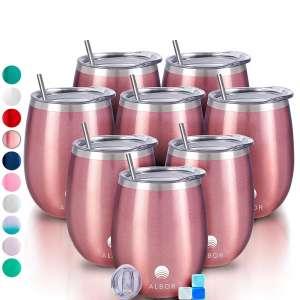 Albor Triple Insulated 8-Pack 12 Oz Wine Tumblers