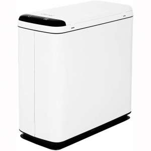 CAYNEL 9 Liter : 2.4 Gallon Sensor Trash Can, for Bathroom Office and Kitchen, Automatic LED Motion Detection Lid, Touchless Garbage Can