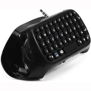 Fosa Mini Wireless Bluetooth Gaming Keyboard Chatpad for PS4 Controller