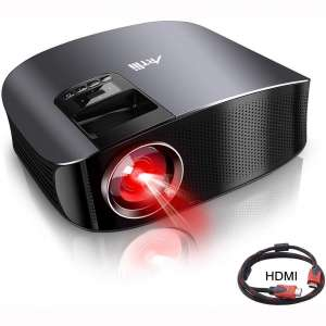 "Movie Projector - Artlii 4000 Lux Full HD 1080P Support Projector, LED Projector with HiFi Stereo, Home Theater Projector w: 200"" Projection Size"