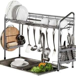 PremiumRacks Professional Over The Sink Dish Rack - Fully Customizable - Multipurpose - Large Capacity