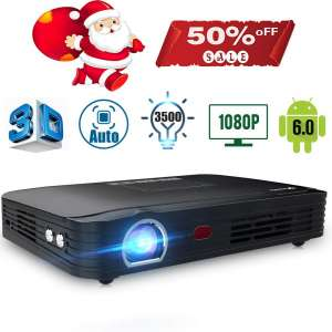 Projector 3500lumens Mini Portable DLP 3D Video Projector Max 300 '' Home Theater Projector Support 1080P HDMI WiFi Bluetooth