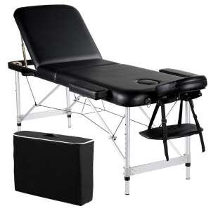 Yaheetech Portable Massage Table 84inch Massage Bed Aluminium Height Adjustable Facial Salon Tattoo Bed with Carring Case