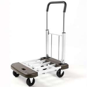 DlandHome Extendable Hand Truck, Compact Foldable Moving Push Cart Platform Truck Dolly Trolley