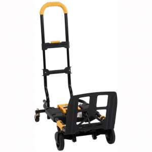 Cosco Shifter 300-Pound Capacity Multi-Position Folding Hand Truck and Cart, Yellow