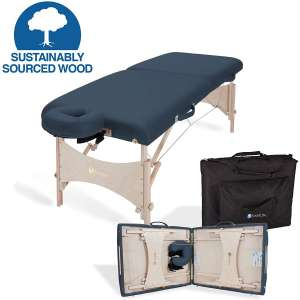 EARTHLITE Portable Massage Table HARMONY DX – Eco-Friendly Design, Hard Maple, Superior Comfort, Deluxe Adjustable Face Cradle, Heavy-Duty Carry Case