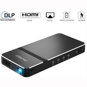 Pico Projector, AKASO Mini Projector Portable 1080P HD DLP LED 50 ANSI Lumens with WiFi, HDMI, USB, Micro SD, 3.5mm Audio and Remote Control