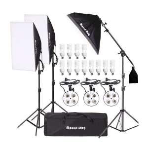 MOUNTDOG Photography Softbox Lighting Kits
