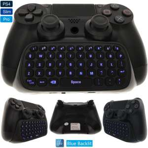 Whiteoak PS4 Keyboard, Wireless Mini Backlit Chatpad, Great KeyPad Adapter for Playstation 4 PS4, Slim, Pro Controller
