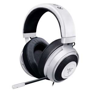 Razer Kraken Pro V2 Gaming Headsets with a Retractable Mic - White