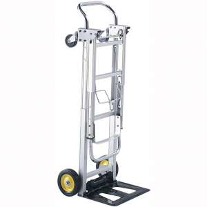 Safco Products Hide-Away Convertible Hand Truck 4050, Dual Function, 400 lbs. Total Capacity, Aluminum Frame