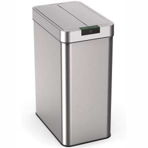 hOmeLabs 21 Gallon Automatic Trash Can for Kitchen - Stainless Steel Garbage Can with No Touch Motion Sensor Butterfly Lid