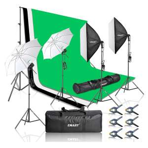 EMART Photography Video Studio Softbox Lighting Kits