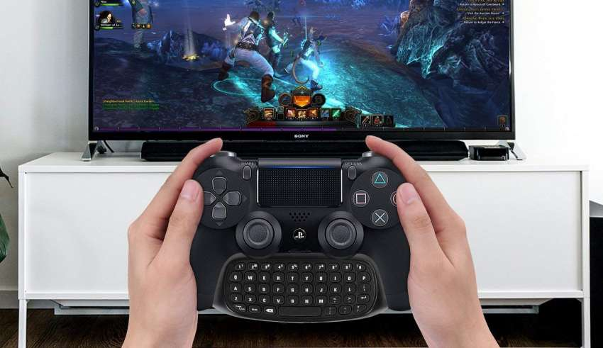 image feature PS4 controller keyboard