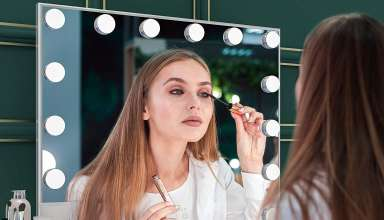 image feature makeup mirror with lights
