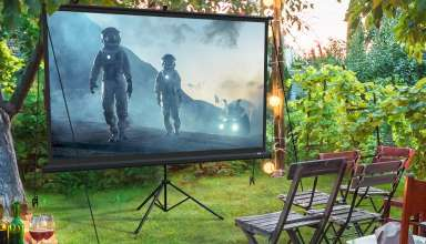 image feature outdoor projector screen