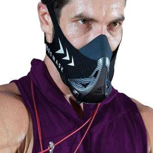 AOCKS Workout Oxygen Mask for Running and Breathing Mask, Cardio Mask, Official Training Mask Used by Pros (Bonus Carry Case)