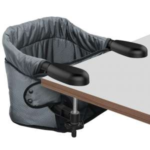 Hook On High Chair, Clip on Table Chair w:Fold-Flat Storage Feeding Seat -Attach to Fast Table Chair for Home and Travel