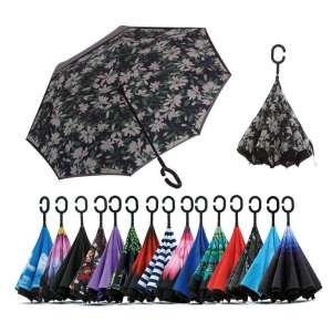 Siepasa Double Layer Inverted Travel Umbrella