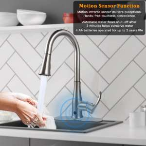 Touchless Kitchen Sink Faucets, Kitchen Faucets with Pull Down Sprayer