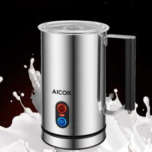 AICOK Electric Smart Temperature Control Milk Frother