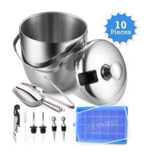 AJ GEAR Insulated Ice Bucket - Stainless Steel
