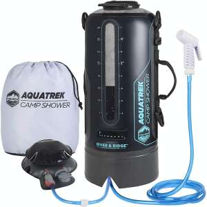 AQUATREK- Portable Camping Shower THE BEST BPA-Free Camp Shower 3 Gal 10L PRESSURE Solar Shower for CAMPING SHOWERS with Hot Water from Sun