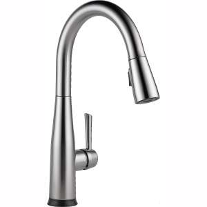 Delta Faucet Essa Single-Handle Touch Kitchen Sink Faucet with Pull Down Sprayer