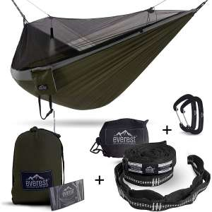 Everest Double Camping Hammock with Mosquito Net | Bug-Free Camping, Backpacking & Survival Outdoor Hammock Tent