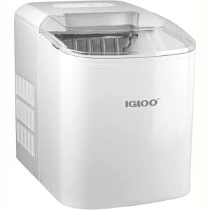 Igloo ICEB26WH Automatic Portable Electric Countertop Ice Maker Machine, 26 Pounds in 24 Hours