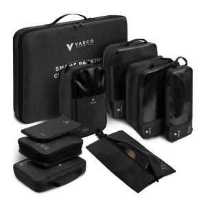 VASCO Black New Compression Packing Cubes Set