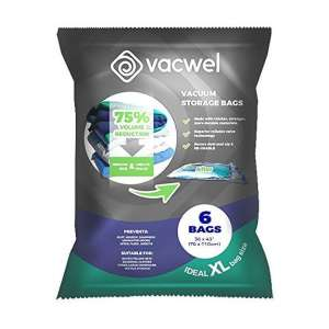 Vacwel Jumbo Vacuum Space Saver Storage Bags for Quilts