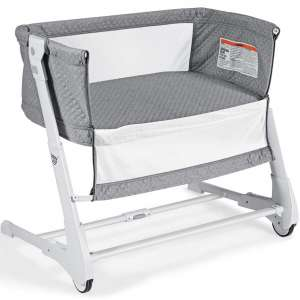 BABY JOY Baby Bedside Crib, 2 in 1 Height & Angle Adjustable Sleeper Bed Side Bassinet w:Detachable & Washable Mattress