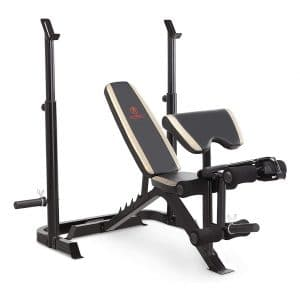 Marcy Adjustable Weight Bench with Leg Developer & Squat Rack