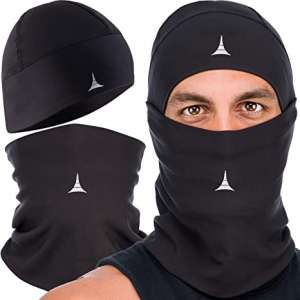 Balaclava Face Mask + Helmet Liner Skull Cap. Warmer Ski Mask Beanie. Winter Accessories Pack