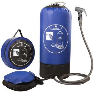 Dr. Prepare Camping Shower, 4 Gallons Portable Outdoor Camp Shower Bag Solar Shower with Pressure Foot Pump