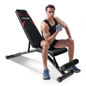 FirstE Adjustable Weight Bench, 550lbs Capacity