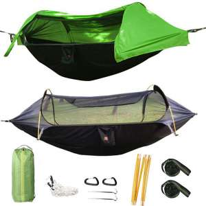 HongXingHai 3 in 1 Hammock with Mosquito Net and Rain Fly Outdoor Hammocks Tents for Camping
