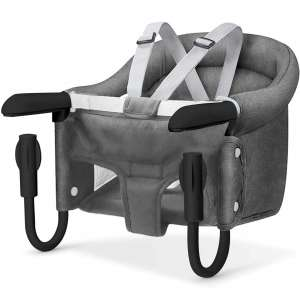 Hook On Chair, Safe and High Load Design, Fold-Flat Storage and Tight Fixing Clip on Table High Chair