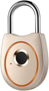 IFOLAINA Fingerprint Padlock Smart Touch Lock Metal Waterproof IP65 Anti-Theft Intelligent Keyless for Gym Locker School Lock Backpack Suitcase Travel Luggage
