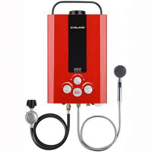 Tankless Water Heater, GASLAND Outdoors BE158R 1.58GPM 6L Portable Gas Water Heater, Instant Propane Water Heater